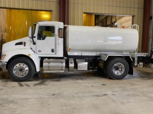 2500 Gallon Carbon Steel Water Tanker on Kenworth #20T079