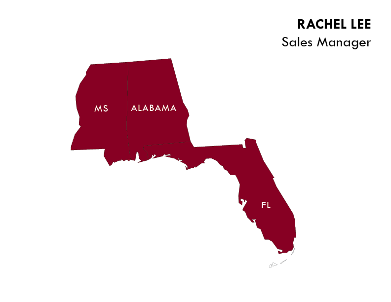 Rachel Lee Sales Area Map